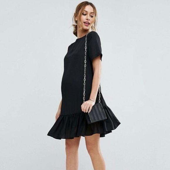 73bd15562f1c7 ASOS Maternity Dresses & Skirts - ASOS maternity t-shirt dress w/ ruffle hem